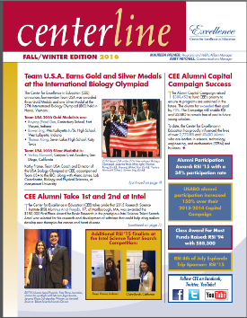 Cover of CEE Fall 2017 Newsletter