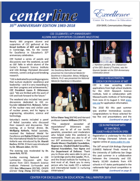 Cover of CEE Fall/Winter 2018 Newsletter