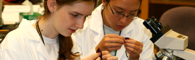 Interior Banner 24 - Two Girls in a Lab