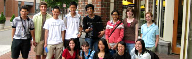 Interior banner 13 - group shot of students outside