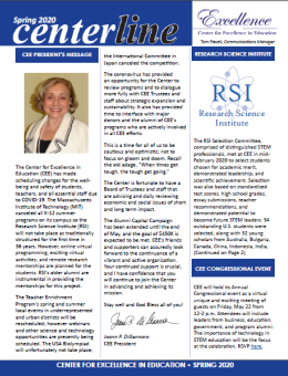 Cover of CEE Spring/Summer 2019 Newsletter