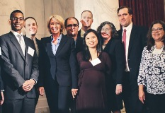 CEE alumni with Secretary of Education DeVos at CEE's Annual Congressional Luncheon
