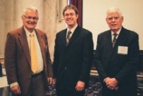 Dr. Jack Cook (from left) with Dr. Bird and CEE Trustee Robert Curry.